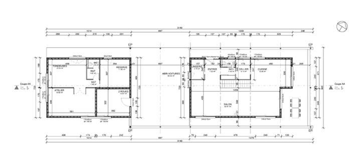maison g gelos 64 6b architecture. Black Bedroom Furniture Sets. Home Design Ideas